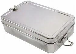 Steel Rectangular Lunch Box
