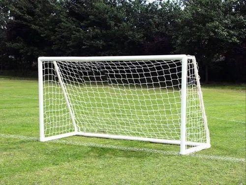 White Rectangular Football Goal Posts