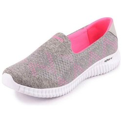 Pink And Grey Ladies Sparx 123 SL Casual Shoes