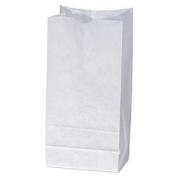 W091908 White Paper Grocery Bag