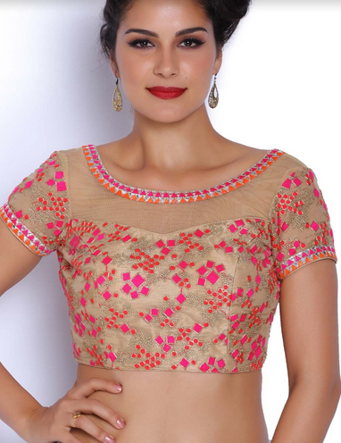 4f76a73f4203ee Pink And Gold Net Blouse at Rs 3798 /piece | Jayanagar | Bengaluru ...