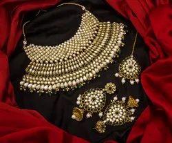 Silver Alloy Party Wear Wedding Jewelry Set For Women