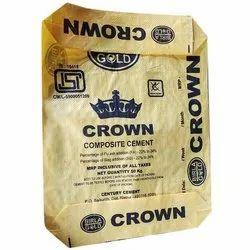 Yellow Empty block bottom misprinted Cement Bags
