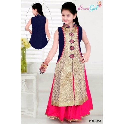 e61a6a283 Signal Pepar Silk & Cotton Zakit Girls Gown, Rs 1495 /piece | ID ...