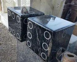 Black Polished Granite pupets, Kishangarh