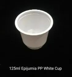 Bomax Plain 125 ML Epijumia PP White Cup, For Event and Party Supplies