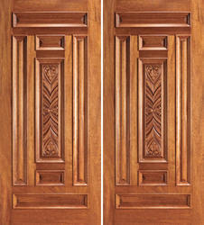 Double Teak Wood Doors