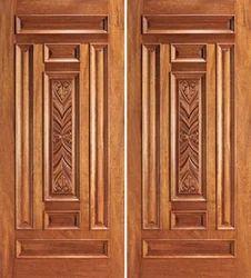 Double Teak Wood Doors