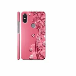 Plastic Pink Designer Mobile Cover, For Mobile Protection