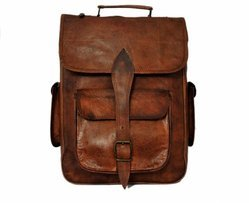Handmade Genuine Leather Laptop Backpack for Men