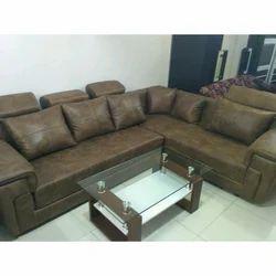 Plain U Shape Designer Leather Sofa Set