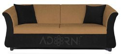Adorn India Acura 3 Seater Sofa(Camel & Black)