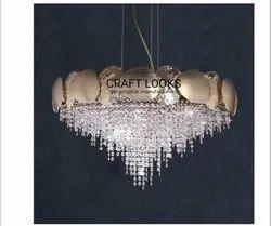 LED Hanging Decorative Crystal Chandelier, For Home Decoration