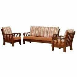 5 Seater Wooden Sofa Set, For Home