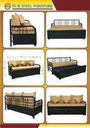 M R Steel Iron Sofa Cum Bed