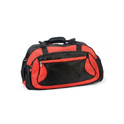 Polyester Red And Black Luggage Bag