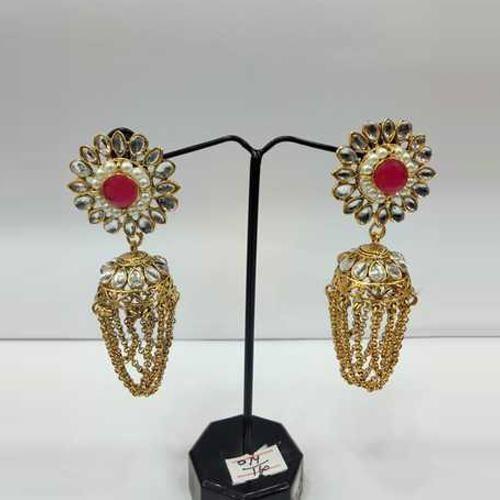 5f1498402af Keva Jewellery Golden Designer Gems Earring