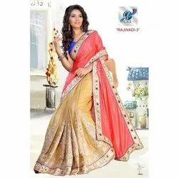 Fancy Mirror Borders Sarees