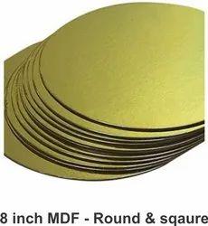 Golden MDF cake base - 8 inch