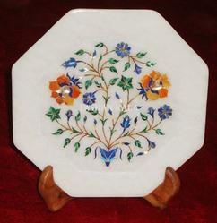 Marble Inlay Octagonal Plate