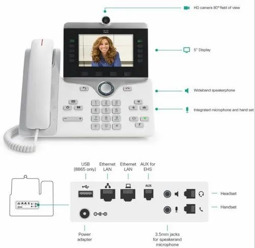 Cisco Ip Phone 8845 Delivers Advanced, High-Quality Hd Video And  Comprehensive Voip Communications