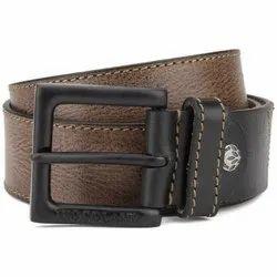 Woodland BT 1060657 Brown and Black Men's Leather Belt