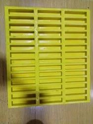 Chequered FRP Molded Grating 38X38X25MM, Rectangular, Size: 12ft