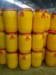 Yellow, Red HDPE Plastic Storage Drums, Capacity: 50 Liter