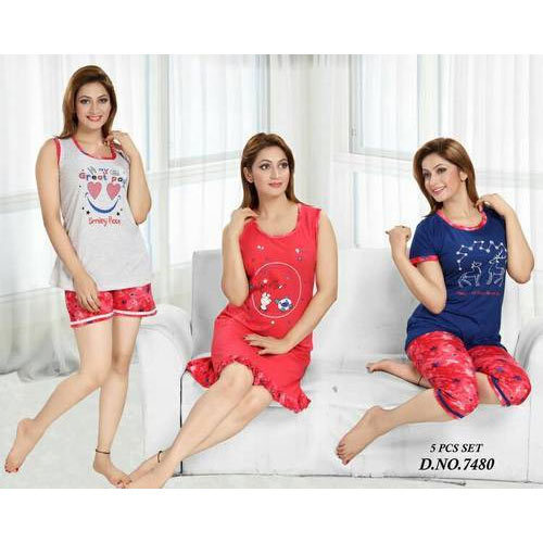 Nighties Printed Ladies Night Suit Set 764298f6c