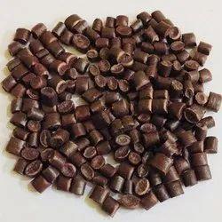 brown plastic granules