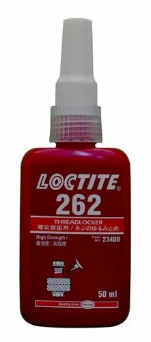 Industrial Grade Loctite 262 Threadlocking Adhesive, Packaging Type: 50 mL