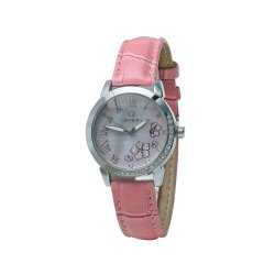 Skone 9173-1 Analog Pink Dial Women's Watch