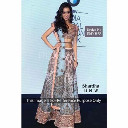Wedding Wear Net Indian Ethnic Bollywood Inspired Party Wear Wedding Lehenga Rs 4359 Piece Id 15747203912,Wedding Royal Blue And Gold Bridesmaid Dresses