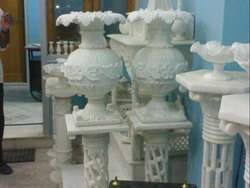Marble Floor Pot Carving Service