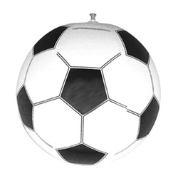 RS Black And White Inflatable PVC Plastic Football