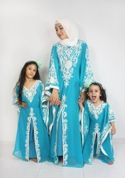 Embroidery Mother & Daughter Matching Abaya