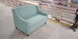 tulsi arts Wooden upholested fabric sofa