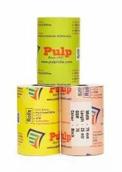 PULP POS Billing Thermal Rolls 75 GSM Black Impression 78 / 79 / 80 mm ( 3 inch), 25 meter