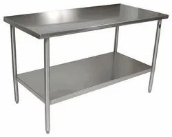 Silver Stainless Steel Receiving Table, For Company And Industrial, Size: 8 X 4