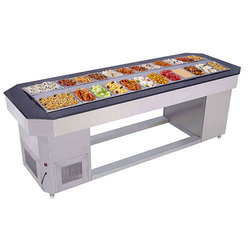 Cold Salad Counter, Size: 3 To 10 Feet
