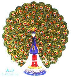 Dancing Peacock Statues