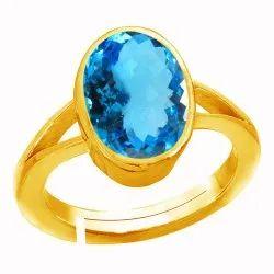 Blue Topaz Ring Asthdhatu Gemstone