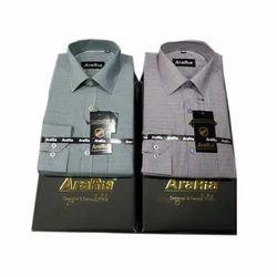 AraRia Cotton Men Formal Shirt, Handwash