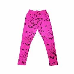 Straight Fit Lycra Cotton Kids Printed Legging