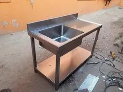 Steel Sink And Table