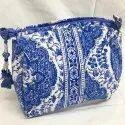 Ladies Block Print Quilted Bag