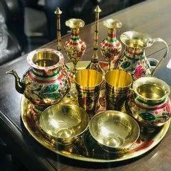 Lakhi Brass Dinner Set, 12 Piece