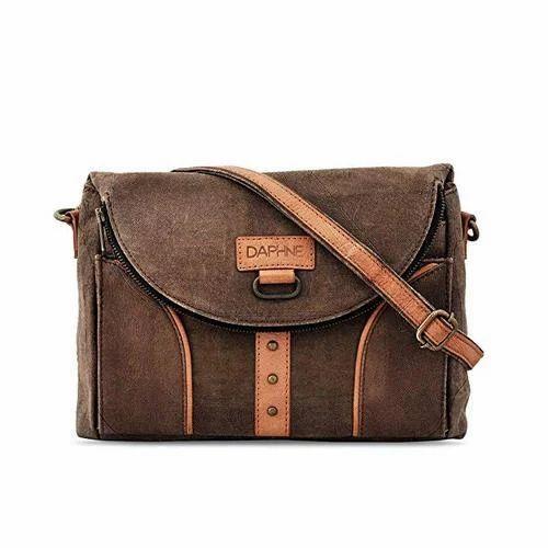 4e2b74c748 Daphne Brown Vintage Look Girls Backpack Cum Sling Bag
