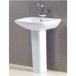 White Ceramic Lexo Wall Mounted Washbasin, Shape: Rectangular