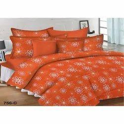Orange Double Bed Sheet